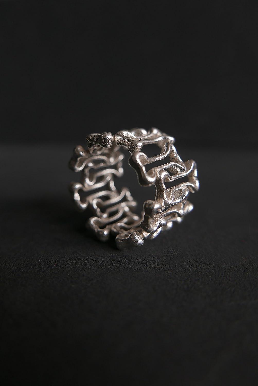 Amazon Com Bone Ring Silver Bone Ring Gothic Bone Ring Gothic Ring Sterling Silver Ring Dog Bone Ring Bones Ring Skeleton Ring Carved Bone Ring Handmade