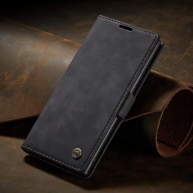 Noir FullProtecter Sensation cutan/ée Coque pour Samsung Galaxy A10,360 Degres Protection Magn/étique Housse en Cuir Etui de Protection pour Samsung Galaxy A10