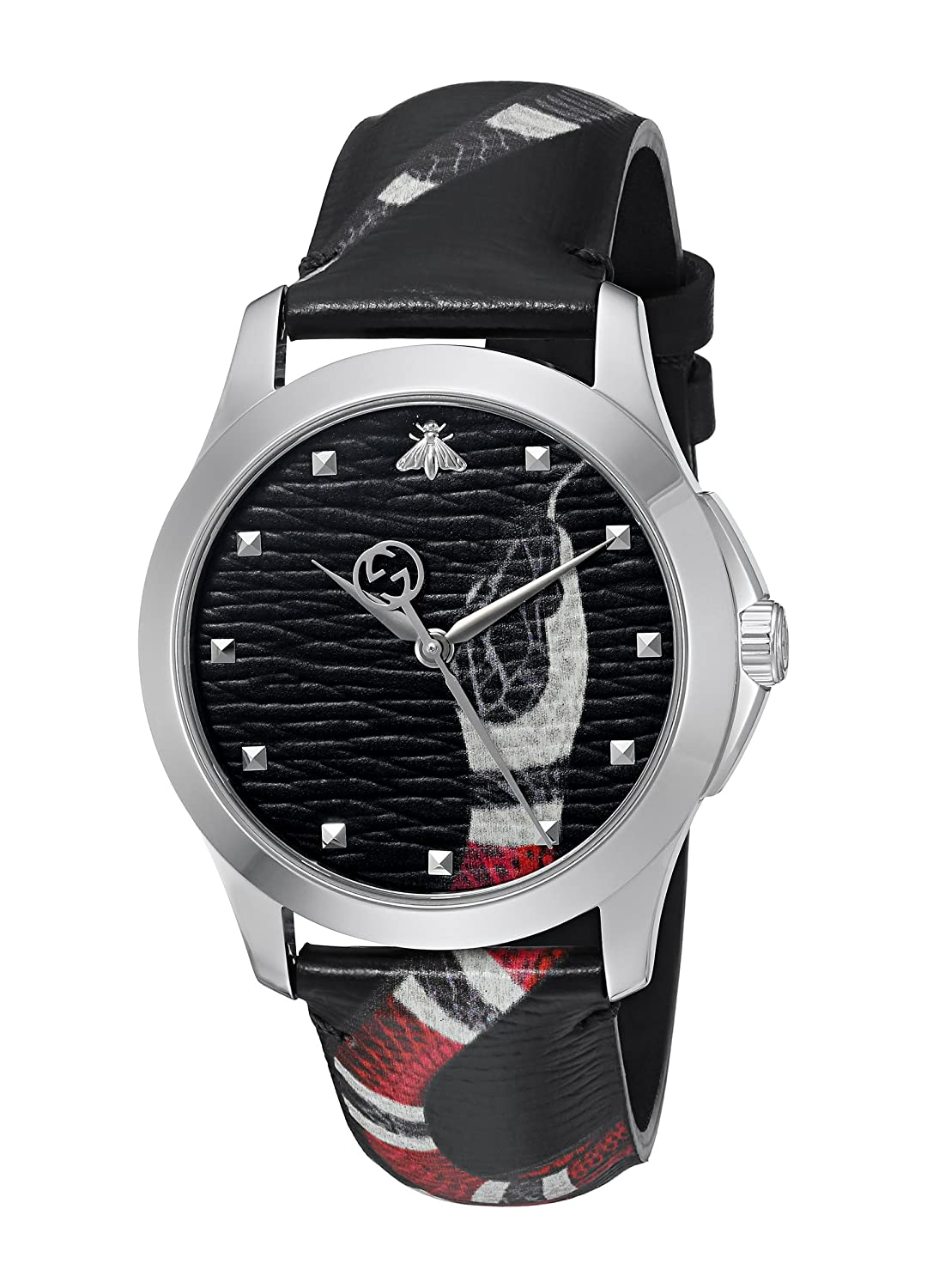 d78e58493d6 Amazon.com  Gucci Quartz Stainless Steel and Leather Casual Black Men s  Watch(Model  YA1264007)  Watches