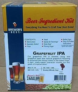 Brewer's Best One Gallon Home Brew Beer Ingredient Kit (Grapefruit IPA)