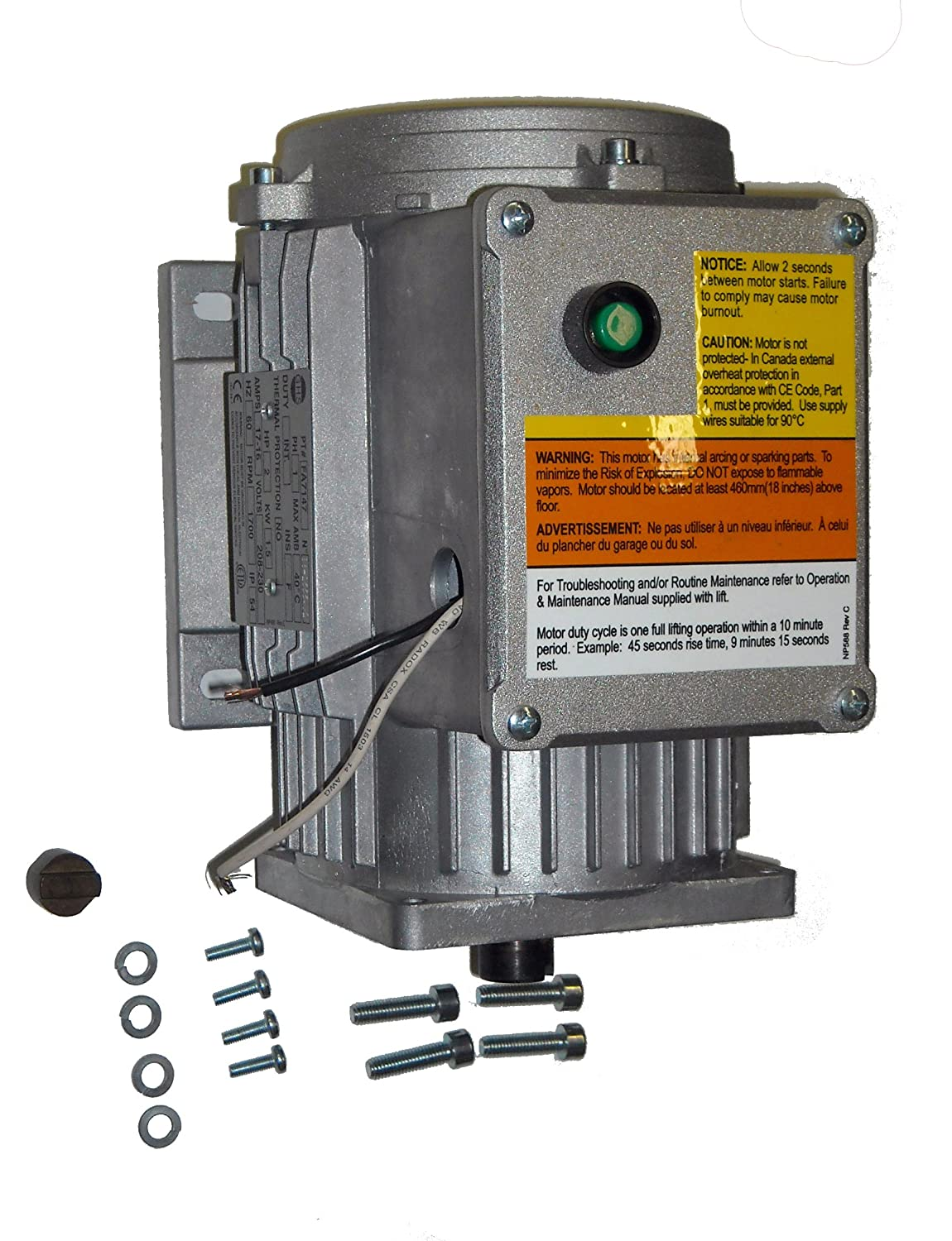 Rotary Lift Forward Power Unit Motor For Automobile Switch Wiring Diagram Lifts Fa7147k Automotive