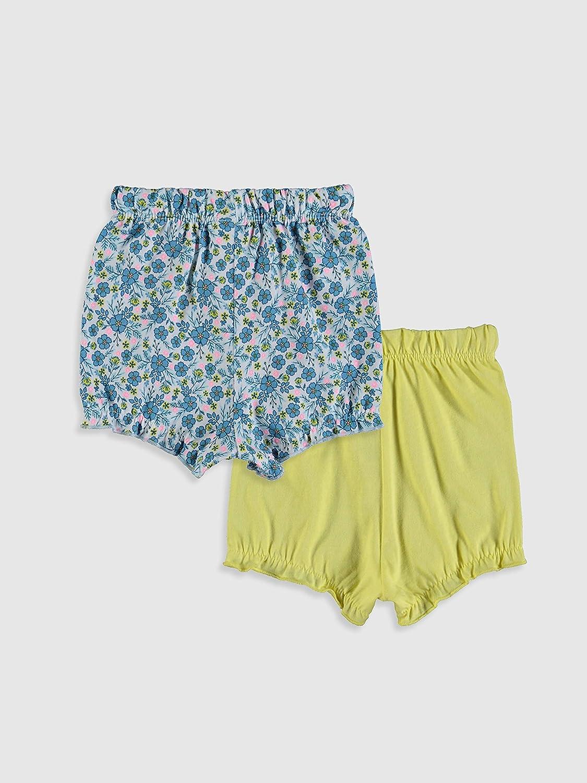 LC WAIKIKI Baby Girls Cotton Shorts Pack of 2