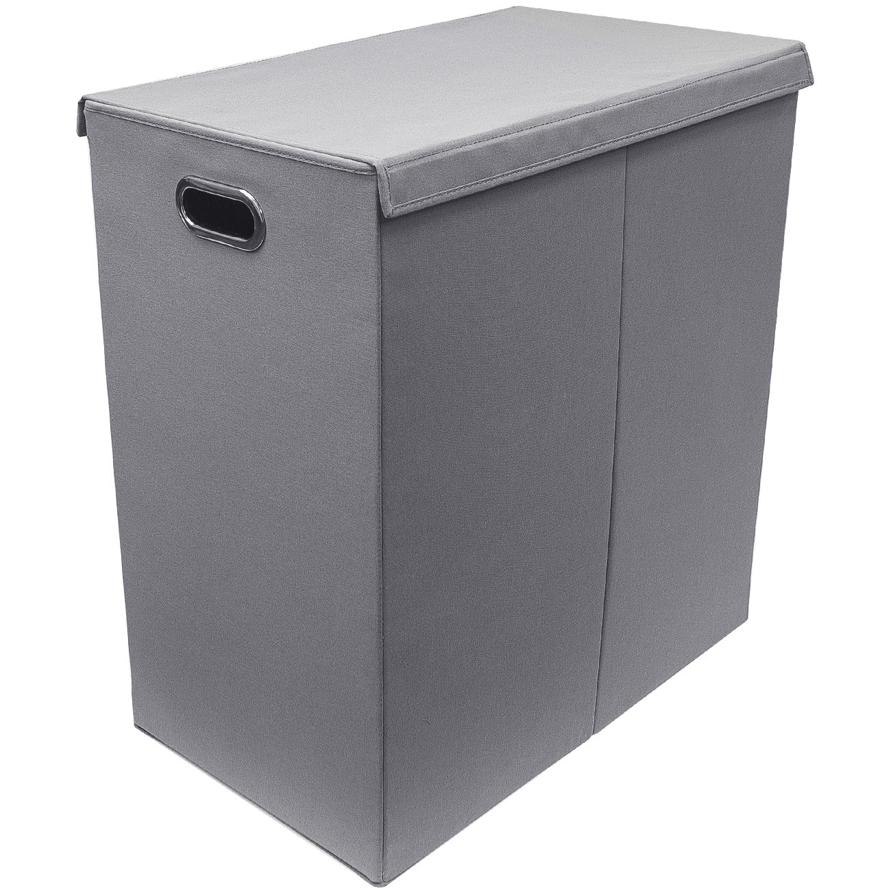 Laundry Hamper With Wheels Part - 37: Sorbus Laundry Hamper Sorter With Lid Closure - Double (Grey)
