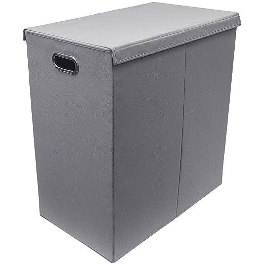 Amazon.com: Cesta organizadora de lavandería con tapa ...