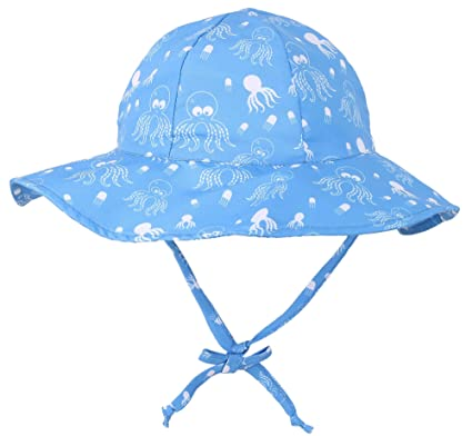 f8dacc1ac0f7 SimpliKids UPF 50+ UV Ray Sun Protection Wide Brim Baby Sun Hat - Blue -