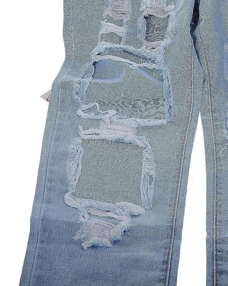 13709af87d8f ShiFan Femme Grande Taille Denim Pantalons Taille Haute Boyfriend Jeans  Casual Déchiré Pants  Amazon.fr  Vêtements et accessoires