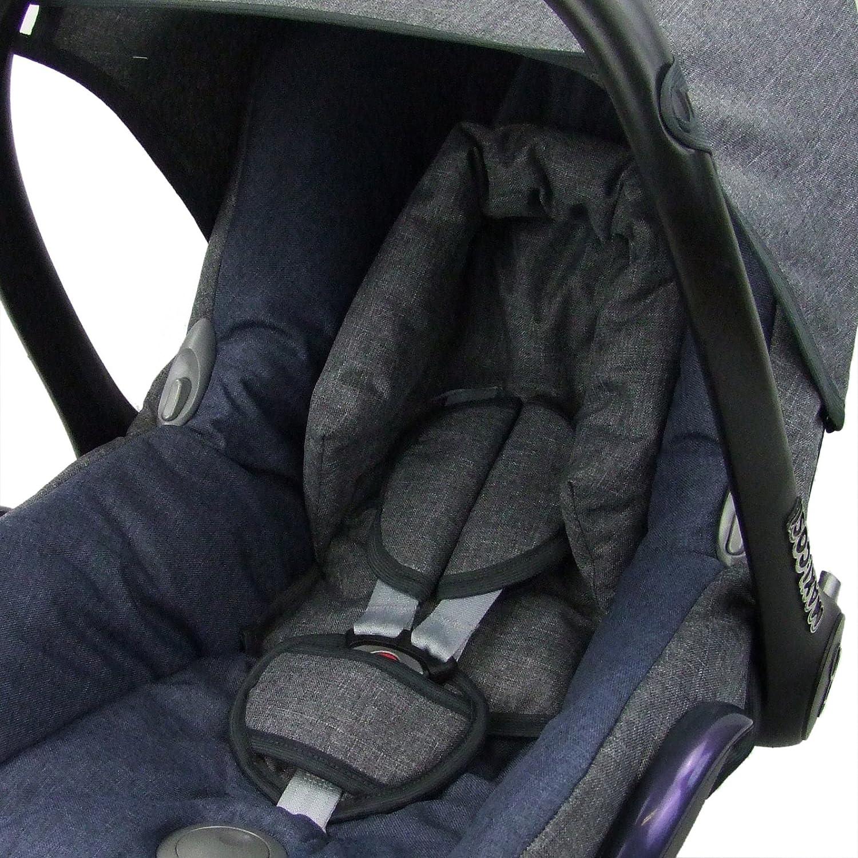 BAMBINIWELT Ersatzbezug f/ür Maxi-Cosi CabrioFix 6-tlg GRAU//MARINE Komplett-Set Bezug f/ür Babyschale