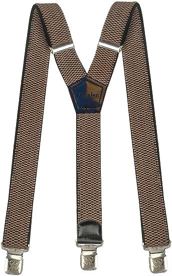Hosenträger für Herren breit extra starken 4 cm mit 3er Clips Y-Form lange für Männer und Damen Hose