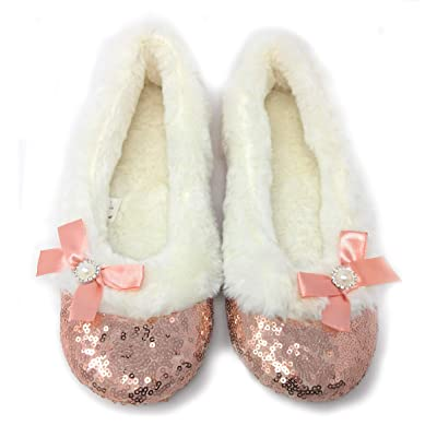 ooohyeah Women's Sequins Ballerina Maggie Embellished Slippers | Slippers
