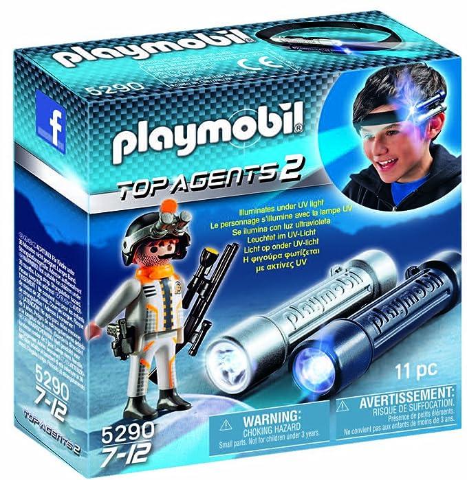 PLAYMOBIL Agentes Secretos 2 - Linterna de Espionaje con Agente ...