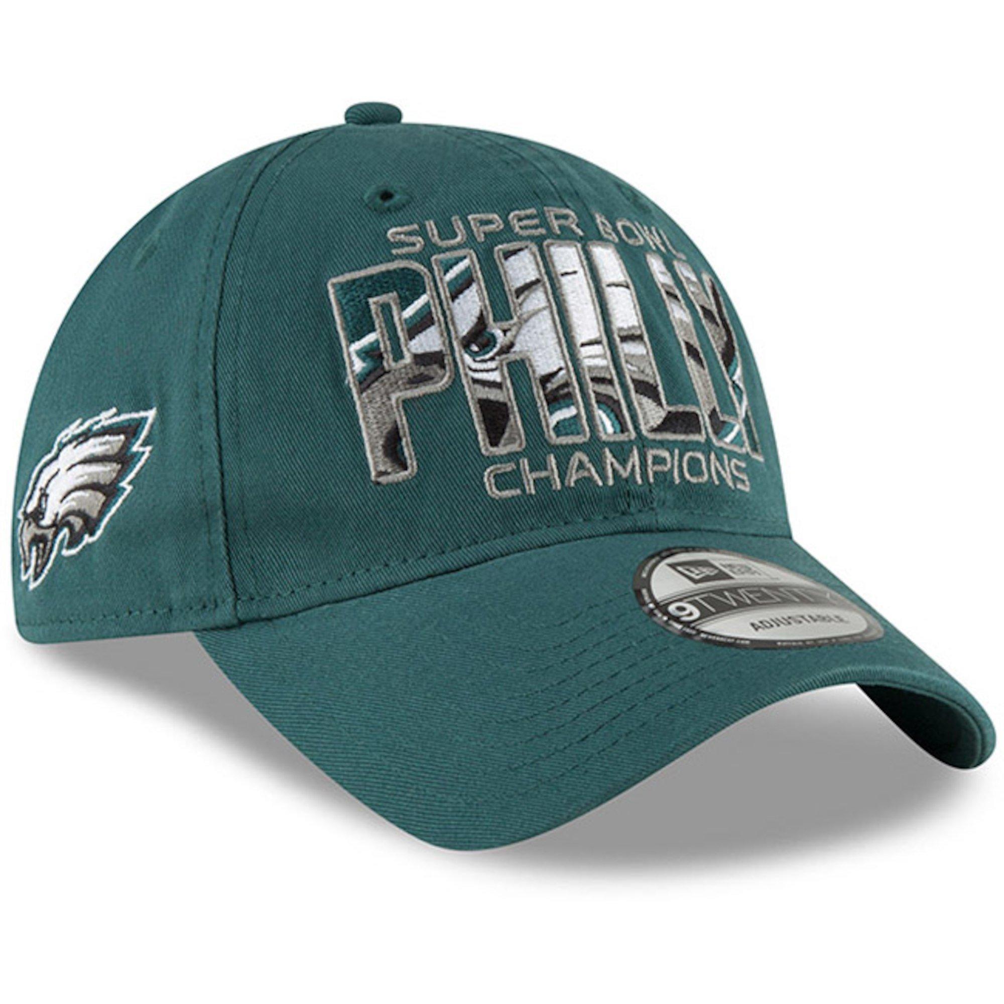 48870d842d6 New Era Authentic Philadelphia Eagles Super Bowl LII Champions in-Between  Midnight Green 9TWENTY Adjustable