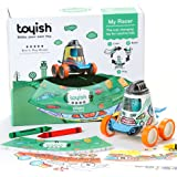 Toyish AWARD WINNING Boys Toys for Toddler & Preschool Kids - Arts & Crafts Racer Car Toy Kit with Coloring Book & Stickers - Boost Creativity & Learning Skills for age 3 - 8 year old
