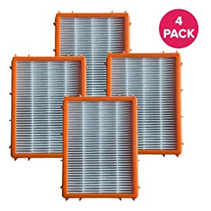 Think Crucial 4 Replacements for Eureka HF-2 HEPA Style Filter Fits Ultra SmartVac 4800 Series, Compatible With Part # 61111, 61111A & 61111B