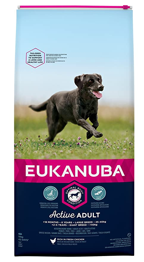 EUKANUBA Dog Dry Base Adult Large Breeds Chicken Bag Comida para Perros - 15000 gr