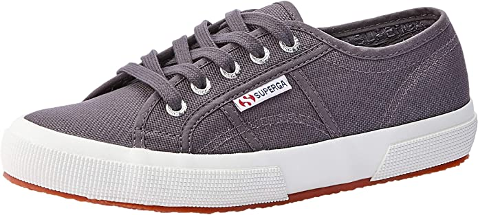 Superga 2750 Cotu Classic Sneakers Low-Top Unisex Damen Herren Dunkelgrau (Dark Grey)