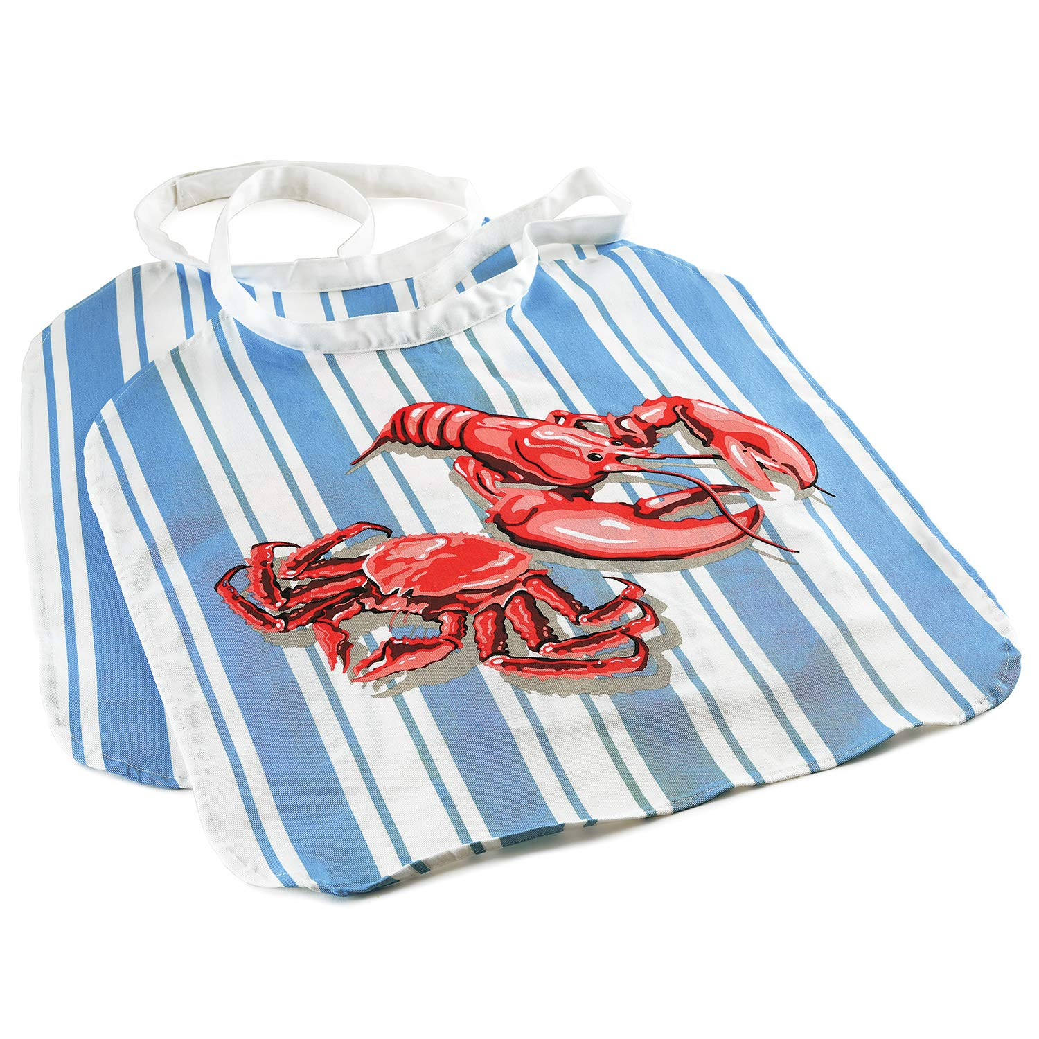 Norpro 6502 Seafood Bib, One-Size, Blue/Red by Norpro