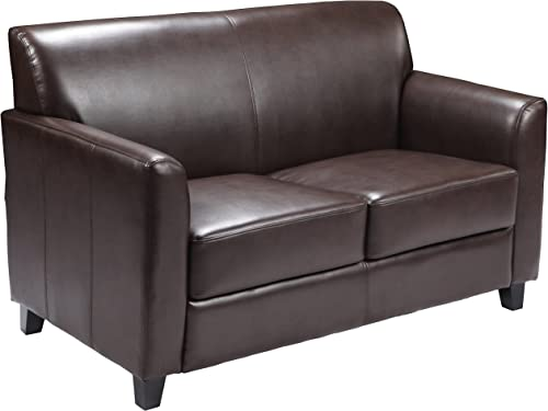 Flash Furniture HERCULES Diplomat Series Brown LeatherSoft Loveseat