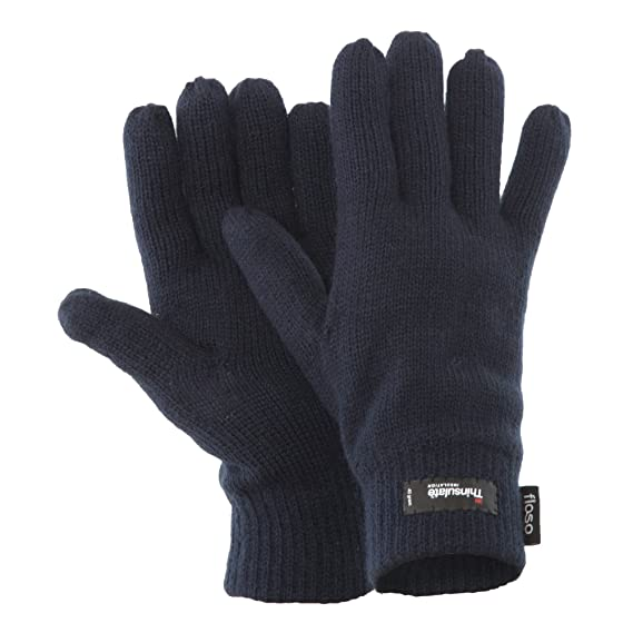 Floso - Guantes de punto Thinsulate Invierno Frio para hombre caballero (3M  40gr 9188c8e5d65