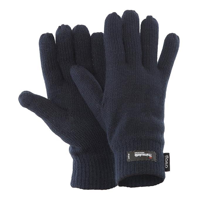 Floso - Guantes de punto Thinsulate Invierno/Frio para hombre/caballero (3M 40gr