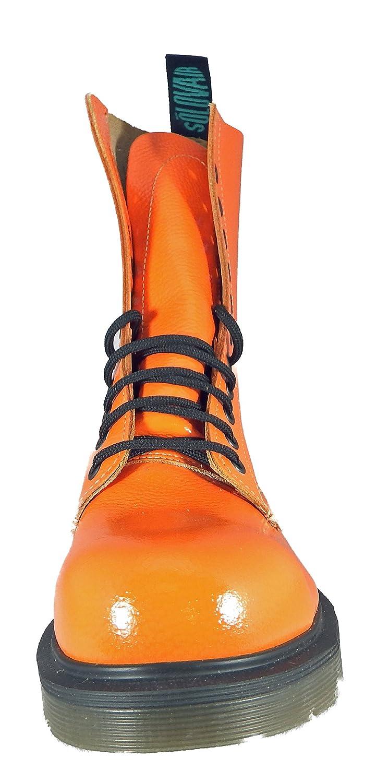 Solovair (England) 11 Ösen Fashion Stiefel. verwendet, Dadurch verwendet, Stiefel. Stahlkappe, Leder, hergestellt In England. aa3c53
