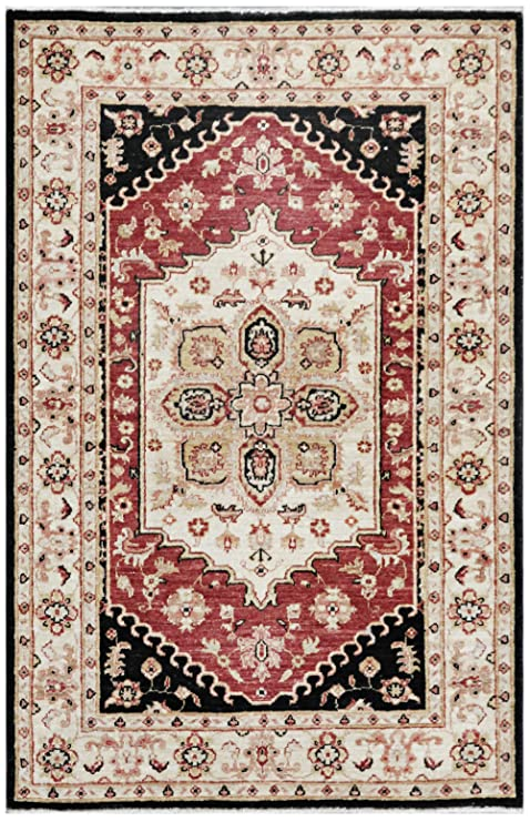 Amazon Com Red 3 X 5 Peshawar Rug Hand Knotted Oriental Rug