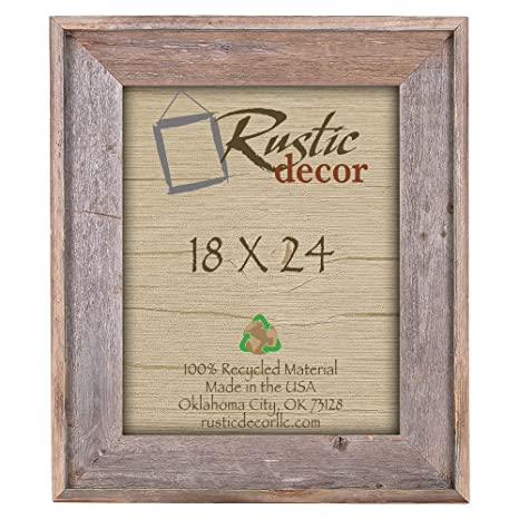 "24x36-2/"" Wide Signature Reclaimed Rustic Barn Wood Wall Frame"