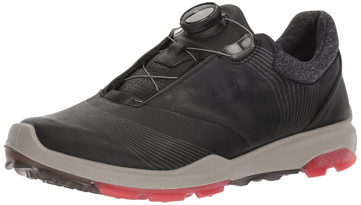ECCO Women's Biom Hybrid 3 Boa Gore-Tex Golf Shoe B074H9RZVV 37 M EU (6-6.5 US)|Black/Teaberry