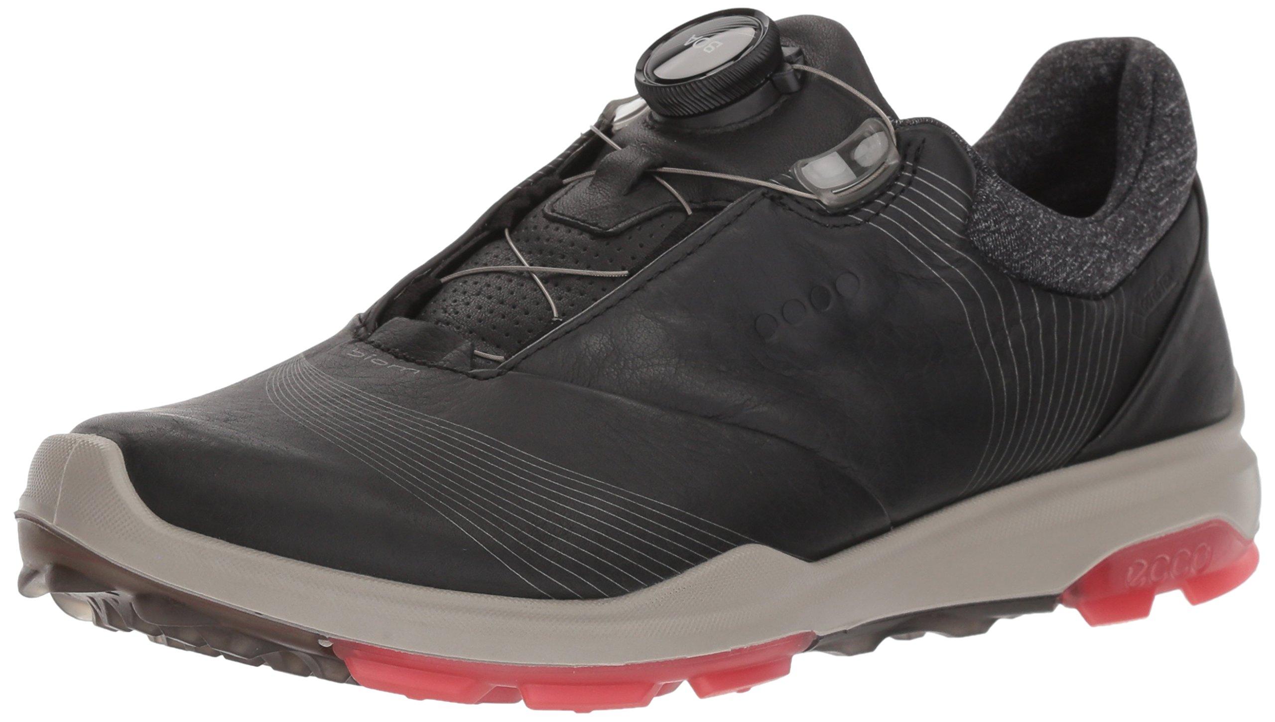 ECCO Women's Biom Hybrid 3 BOA Gore-Tex Golf Shoe, Black/Teaberry Yak Leather, 11 M US by ECCO