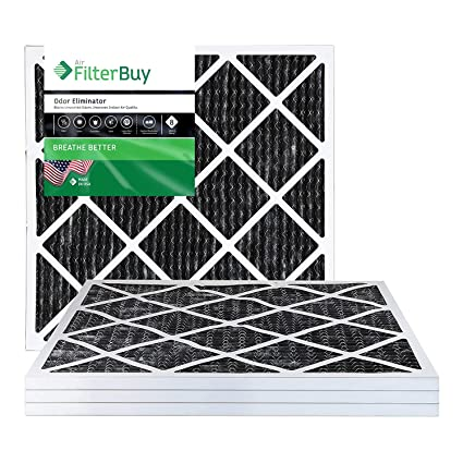 Nordic Pure 12x12x1 Pure Carbon Pleated Odor Reduction AC Furnace Air Filters 3 Pack 3 Piece