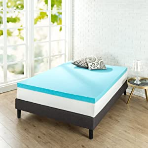 Zinus 3 Inch Gel Memory Foam Mattress Topper, Full
