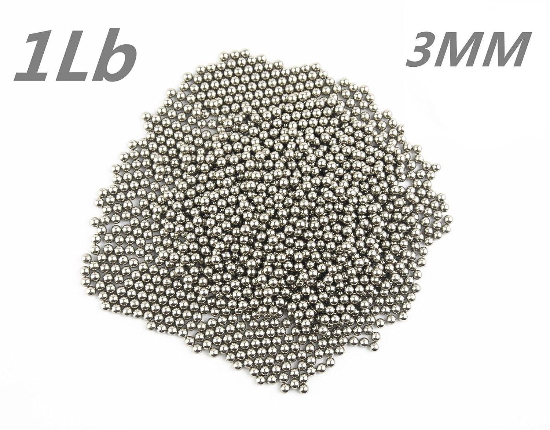 Lieomo 1Lb 3MM Stainless Steel Tumbling Media Shot Jeweler Circular Tumbler Finishing
