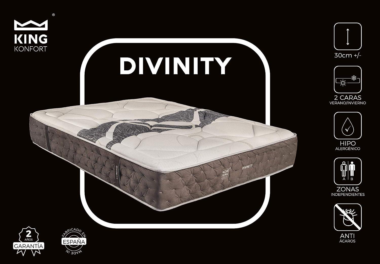 Colchón Divinity con 11 cm de Viscoelástica de alta densidad y Viscocarbono. Núcleo HR de 35Kg. Mejor colchón calidad/precio. Tejido 4D.