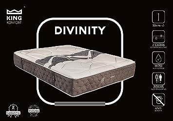Colchón Divinity con 11 cm de Viscoelástica de alta densidad y Viscocarbono. Núcleo HR de