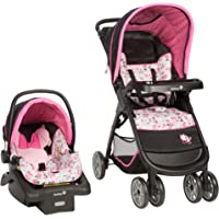 Disney Baby Minnie Mouse Amble Quad Travel System Stroller with Onboard 22 LT Infant Car Seat (Garden Delight)
