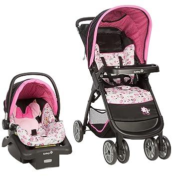 77c1b4156 Amazon.com   Disney Baby Minnie Mouse Amble Quad Travel System ...
