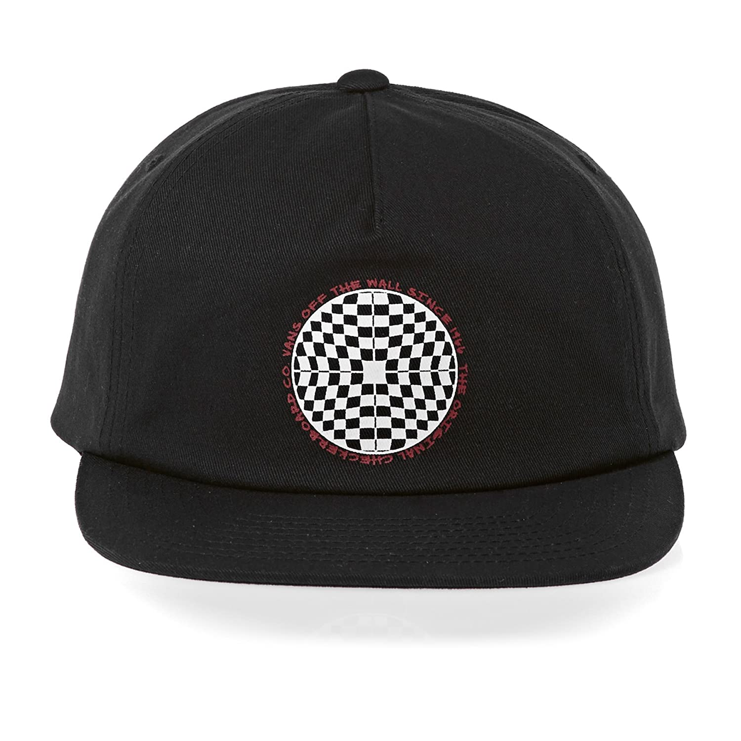 87664135abe Vans Checkered Shallow Cap One Size Black at Amazon Men s Clothing store