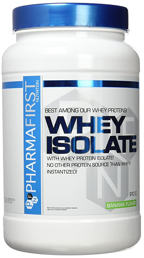 Pharma First Whey Isolate proteína plátano 910 g