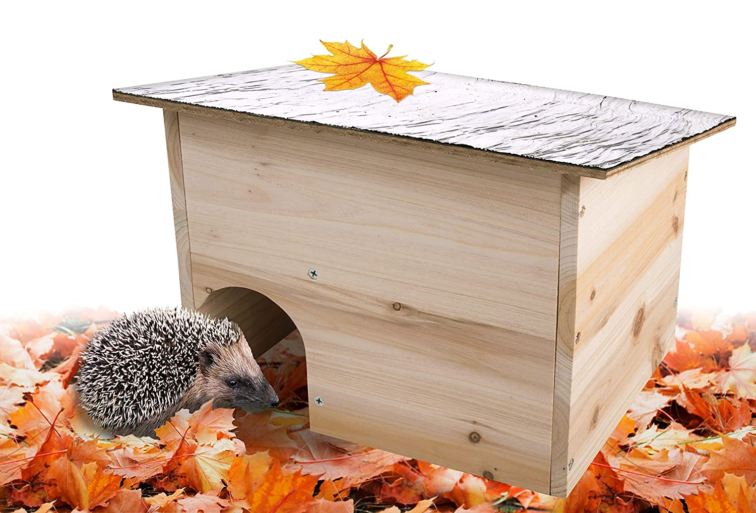 Gardigo 90568 - Hedgehog Home - Natural Wooden Hedgehog House & Hibernation Shelter