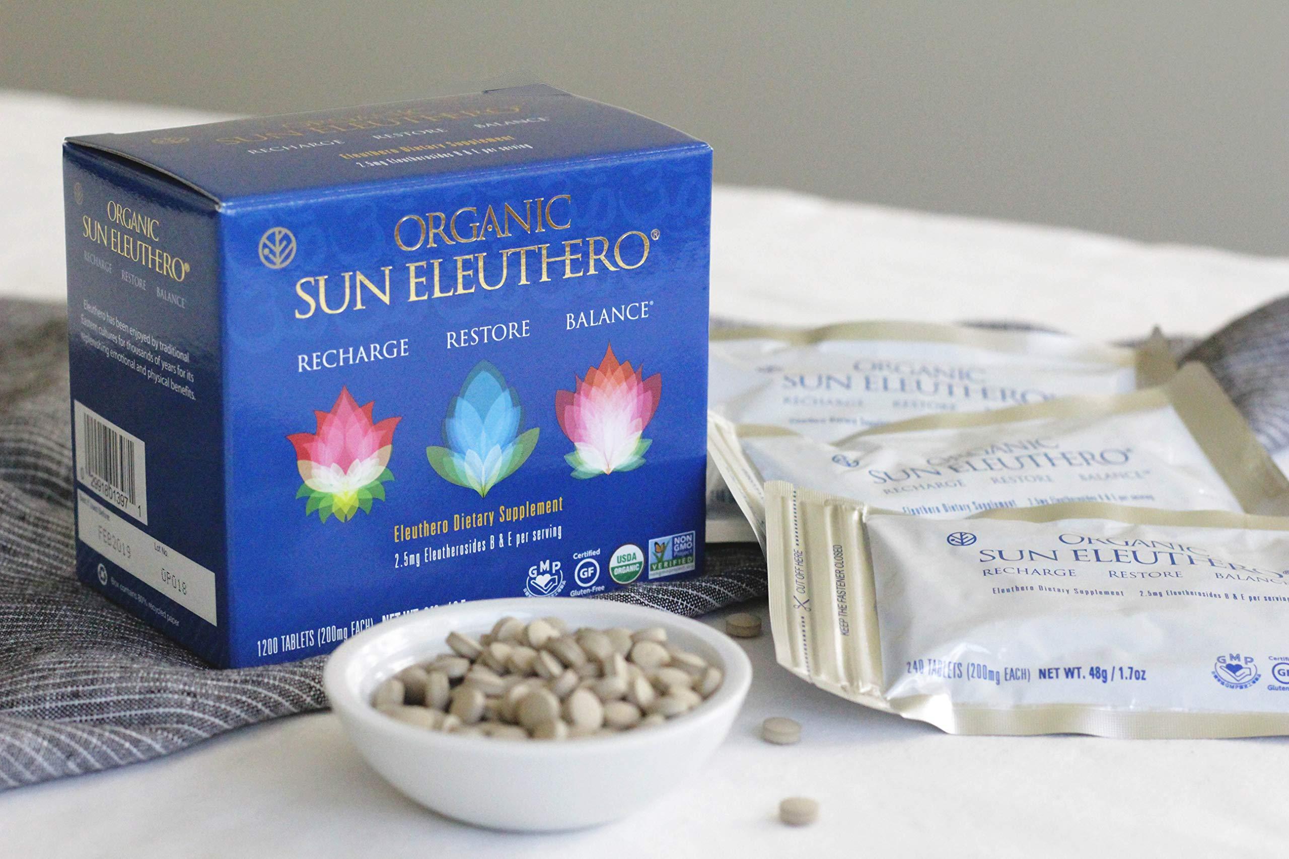 Sun Chlorella- Organic Sun Eleuthero Dietary Supplement- 200Mg Tablets (1200 Count) by Sun Chlorella (Image #5)