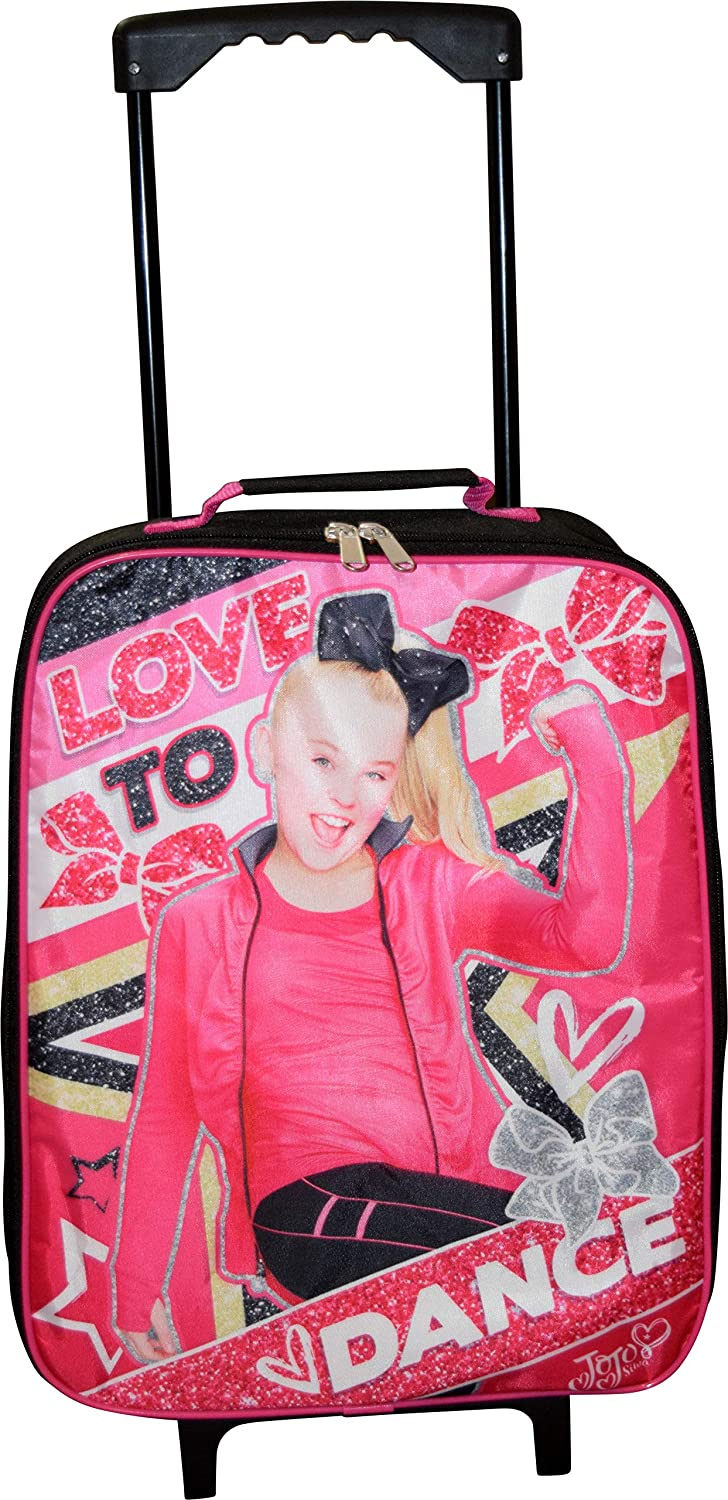 Nickelodeon JoJo Siwa Girl s 15 Collapsible Wheeled Pilot Case – Rolling Luggage