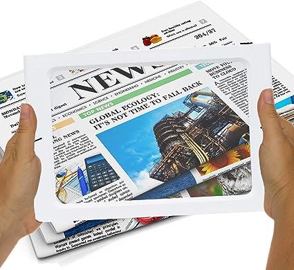 Formato Pagina A4 Dotato di Cordino e Supporto per Libri e Giornali Fancii 2x Lente di Ingrandimento Grande con Luce LED per l/'utilizzo con Impugnatura o a Mano Libera USB e a Batteria