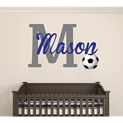"Custom name with sports balls - Personalized name - wall decal baby room - Wall Decal for Children Decoration (Wide 20""x13"" Height): Home & Kitchen"