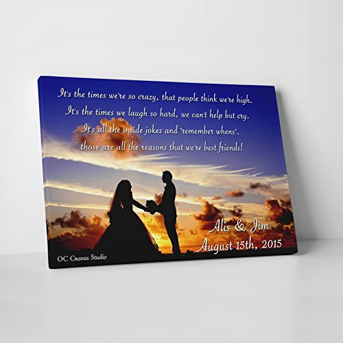 amazon com custom quote on canvas photo and quote custom canvas