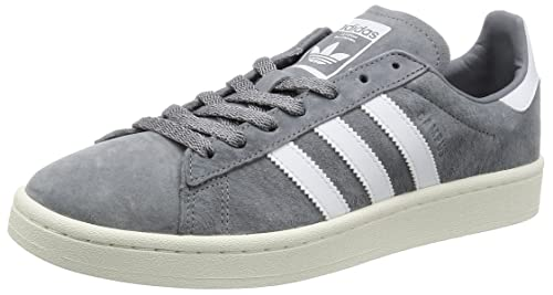 tout neuf ca405 6feb9 adidas Unisex Adults' Campus Sneaker Low Neck, Grey (Grey/Footwear  White/Chalk White), 4.5 UK