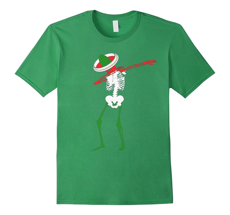 Mexican Skeleton Cinco de Mayo Dabbing Funny T-Shirt