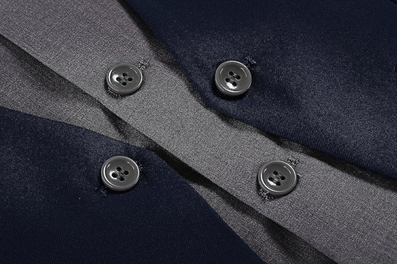 Coofandy Weste Herren Anzug V-Ausschnit Vintage Geschäftsweste Anzugweste