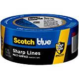 ScotchBlue Sharp Lines Multi-Surface Painter's Tape, 2093, 1.88 in x 60 yd, 12 Rolls