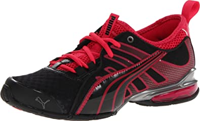 PUMA Women's Voltaic 4 Mesh Cross-Training Shoe,Black/Pink/Aged Silver