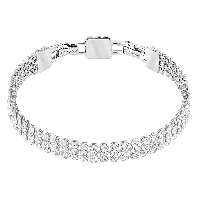 ddf2a03f977eb Swarovski Fit Bracelet, White, Palladium Plating