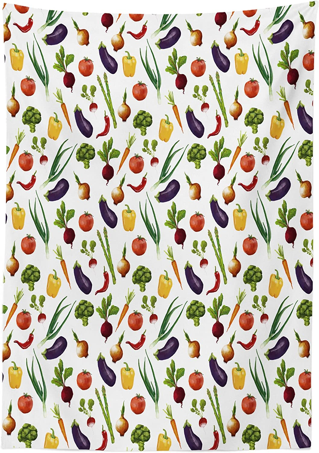 Lunarable Ladybugs Outdoor Tablecloth Pattern with Insects Symmetrical Background Little Ladybugs Branches Leaves Decorative Washable Picnic Table Cloth 58 X 84 Avocado Green